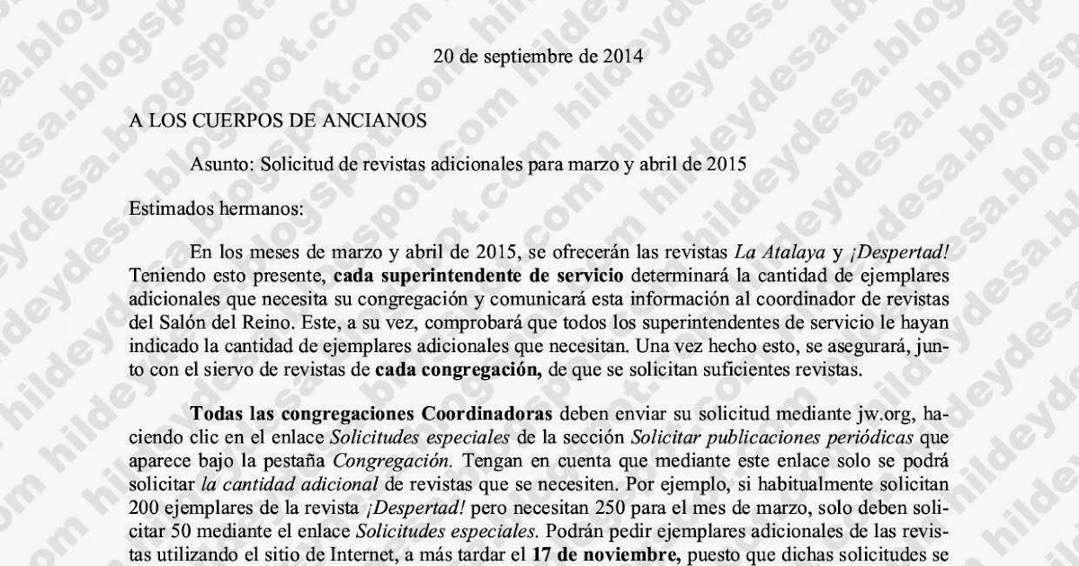 Hildebrando y Otras Hierbas: Carta 20/9/14: Solicitud de